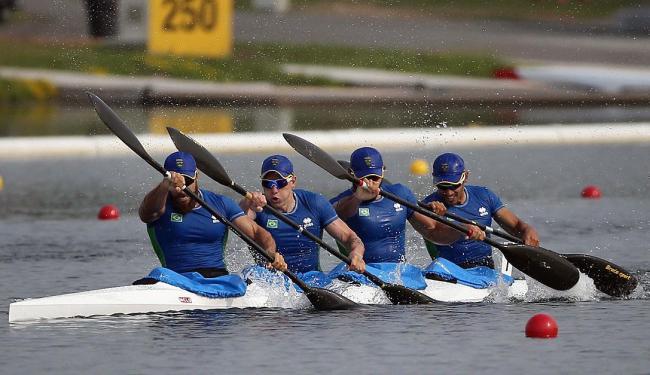Foi confirmada hoje que a equipe masculina do País de caiaque quádruplo, o K4, herdou a vaga - Foto: AP Photo