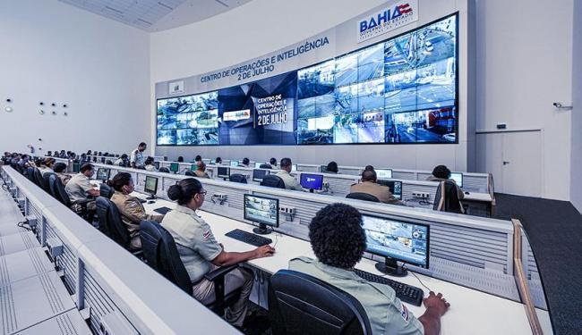 Sala de monitoramento tem tela de 14 m x 7 m - Foto: Divulgação | GOVBA
