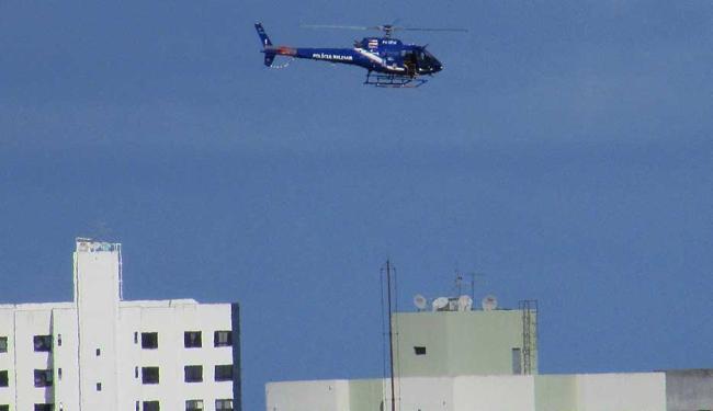 Helicóptero do Graer ajuda no policiamento da área - Foto: Thais Seixas | Cidadão Repórter