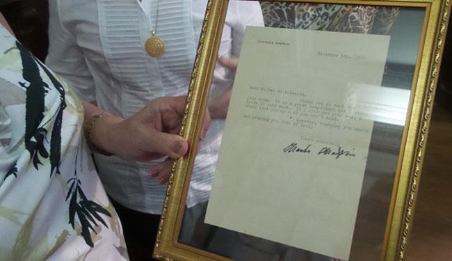 O documento foi enviado ao crítico Walter da Silveira - Foto: ALB   Divulgação