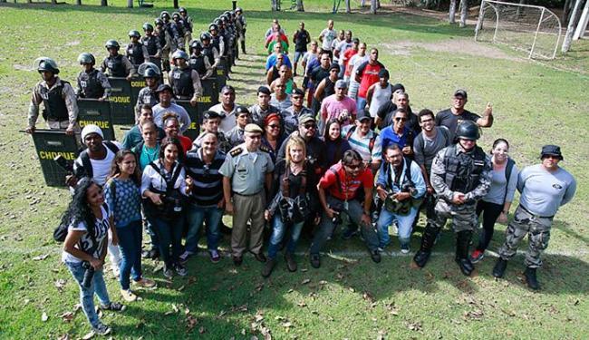 Curso foi realizado no Batalhão de Choque da PM, com sede em Lauro de Freitas - Foto: Agência A TARDE
