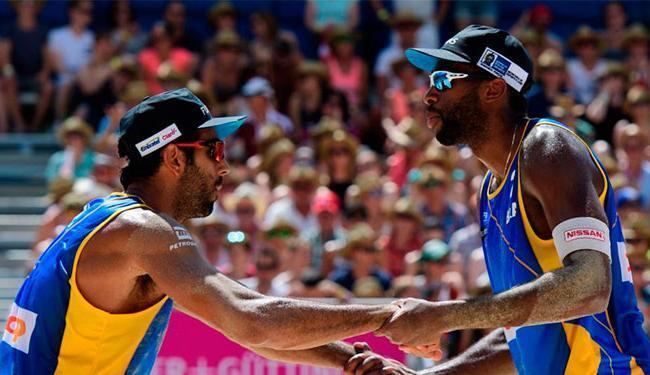 O placar foi de 2 sets a 0 (24/22 e 21/16) para os brasileiros - Foto: Divulgação | CBV