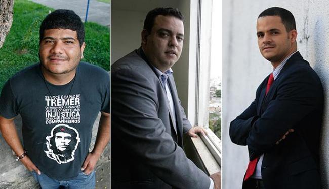 Gilcimar Brito, Lucas Reis e Rodrigo Coelho são os candidatos do PT à Câmara - Foto: Mila Cordeiro, Joá Souza e Adilton Venegeroles | Ag. A TARDE