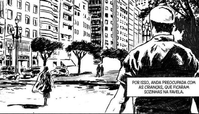 Carolina é uma HQ biográfica e se passa em São Paulo - Foto: Arte João Pinheiro / Reprodução: A TARDE
