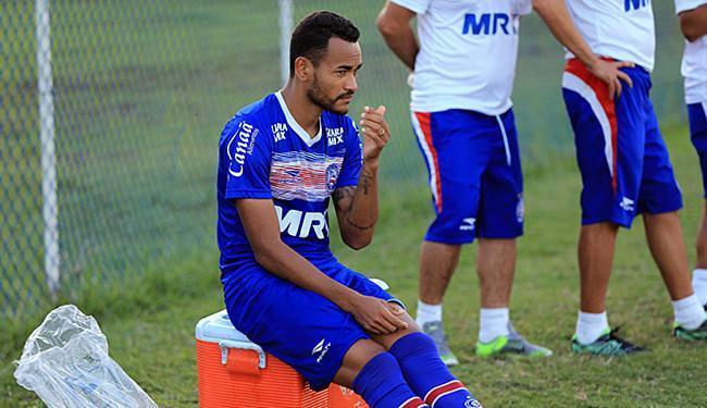Jackson usou faixa de capitão durante ausência temporária de Lomba; agora, pode ser efetivado - Foto: Felipe Oliveira l EC Bahia