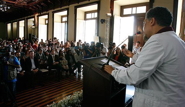 O secretário de Cultura do Estado, Jorge Portugal, fez o anúncio no Palácio Rio Branco - Foto: Mila Cordeiro | Ag. A TARDE