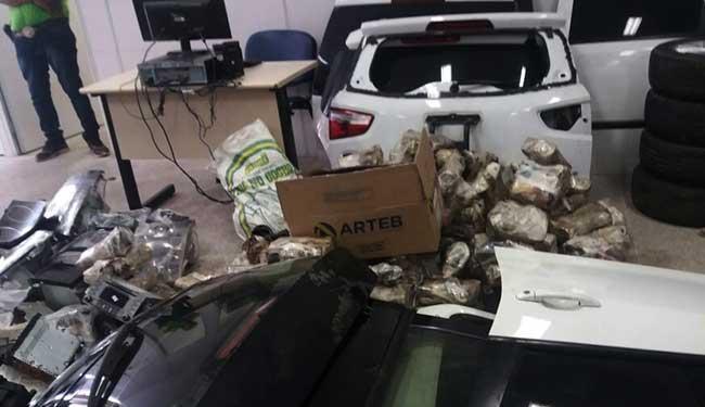 Peças de veículos desmanchados apreendidas - Foto: Ascom   Polícia Civil