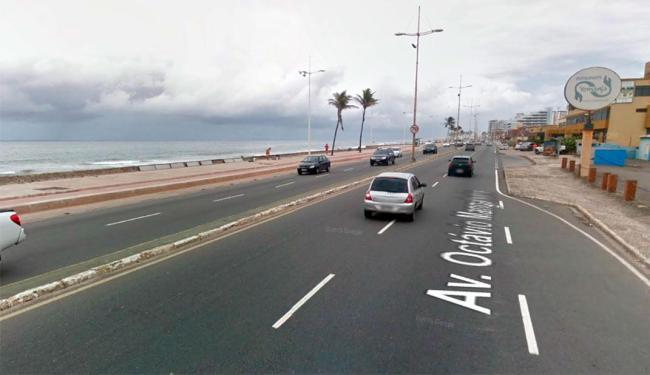 Trecho da praia onde o surfista teria desaparecido - Foto: Reprodução | Google Street View