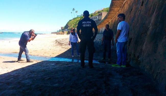 Polícia realizou perícia em muro de onde Leonardo Moura caiu, que tinha 4,5 m - Foto: Polícia Civil | Divulgação