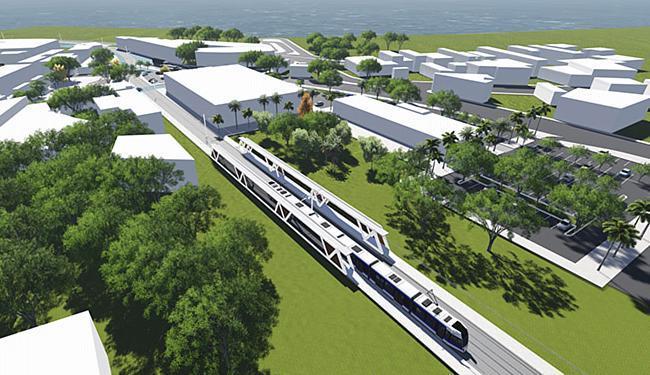 Projeto do VLT, no transporte da capital, foi selecionado para receber apoio do  governo britânico - Foto: Casa Civil l Divulgação