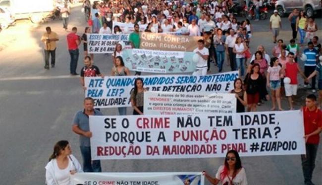 Moradores pediam a redução da maioridade penal - Foto: SulBahia.com   Divulgação