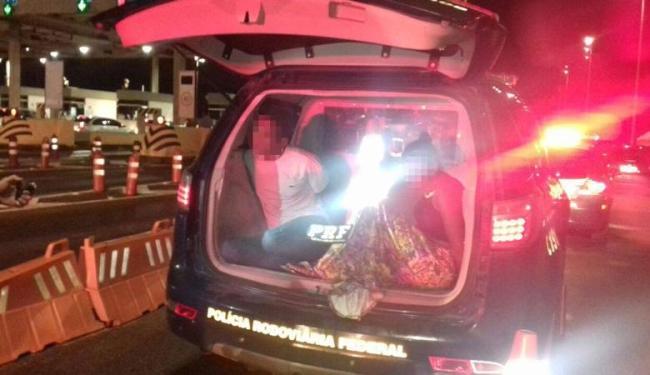 Casal de suspeito foi preso em Simões Filho - Foto: Divulgação   Polícia Rodoviária Federal