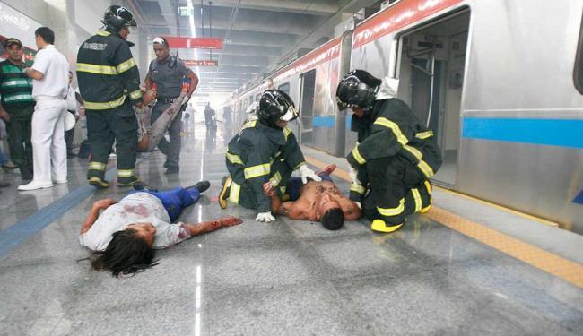 O exercício teve como objetivo avaliar a agilidade e planejamento das forças de segurança - Foto: Luiz Tito   Ag. A TARDE
