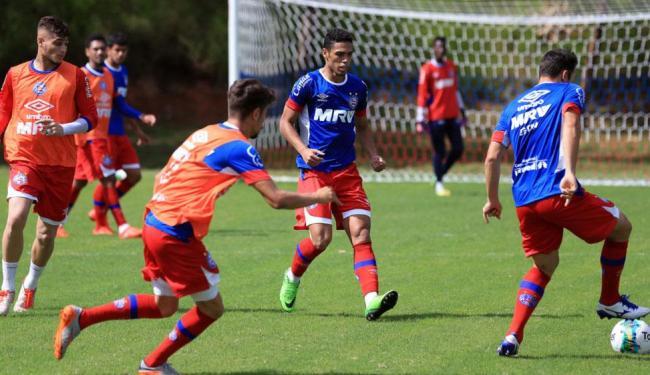 Os jogadores encerraram as atividades do dia com um treino recreativo - Foto: Felipe Oliveira | Divulgação | E.C.Bahia