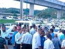 Taxistas fazem carreata contra o Uber em Salvador - Foto: Cidadão Repórter | Via WhatsApp