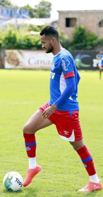 Zagueiro, que se recuperou de uma fissura no pé, trabalhou normalmente - Foto: Felipe Oliveira l EC Bahia