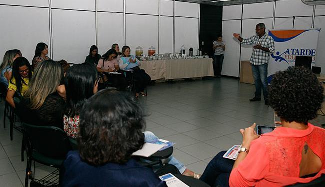 Evento discutiu o uso do jornal como aliado do processo educativo - Foto: Edilson Lima l Ag. A TARDE