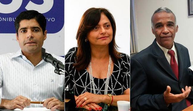ACM Neto é seguido por Alice Portugal e Pastor Isidório - Foto: Agência A TARDE