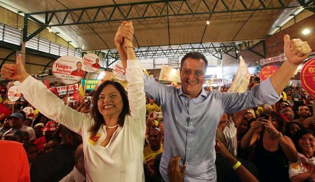 A convenção com Alice e Rui ocorreu sem a presença de del Carmem, que retornou ontem da Espanha - Foto: Lúcio Távora | Ag. A TARDE