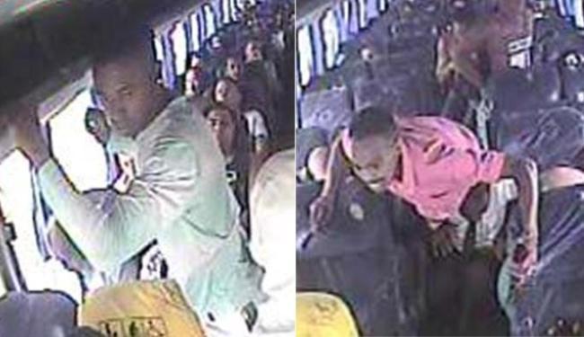 Câmeras de segurança do ônibus flagraram a ação do criminosos - Foto: Divulgação l Polícia Civil
