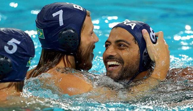 Jogadores brasileiros comemoram o triunfo - Foto: Laszlo Balogh   Reuters