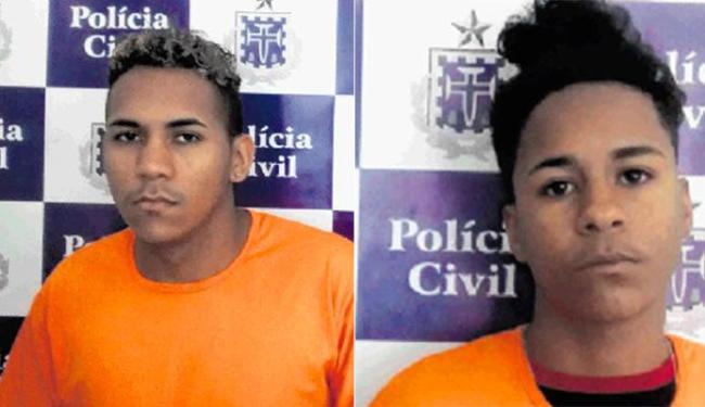 Carlos (esq) contou com a ajuda do irmão, Alexandre, para matar o cunhado. Eles estão presos - Foto: Divulgação | Polícia Civil