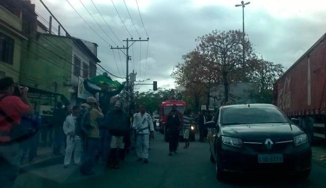 Rafaela Silva foi homenageada por moradores da Cidade de Deus - Foto: CBJ | Divulgação