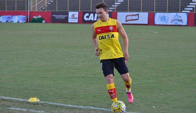 A declaração foi dada no intervalo do jogo contra o Santos, no dia 24 de julho - Foto: Francisco Galvão l EC Vitória