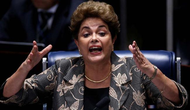 Dilma Rousseff foi ouvida nesta segunda-feira, 29, no plenário do Senado - Foto: Ueslei Marcelino   Agência Reuters
