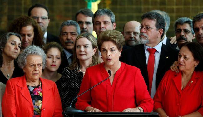Dilma se despede, em discurso, como presidente do Brasil - Foto: Bruno Kelly | Reuters