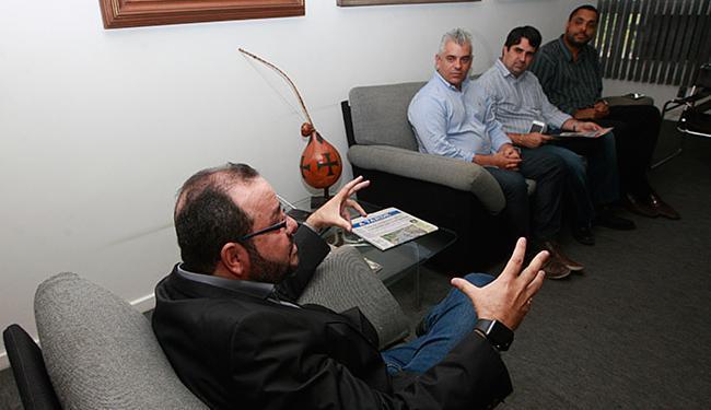 Dirigentes da Assoveba durante visita ao Grupo A TARDE - Foto: Xando Pereira l Ag. A TARDE