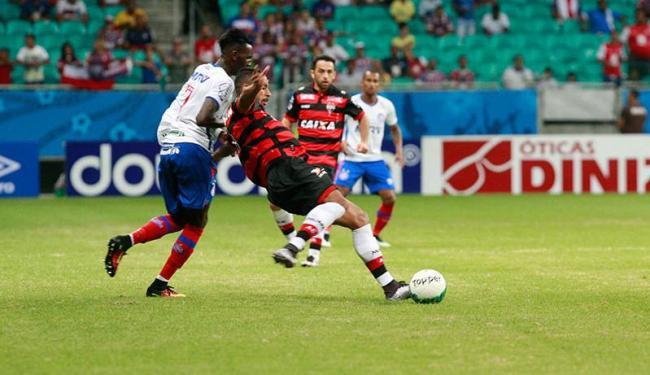 Jogo foi disputado, mas o Bahia apresentou os mesmos erros - Foto: Margarida Neide | Agência A TARDE