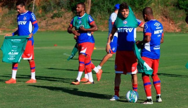 O elenco do Bahia fez treino com bola na tarde desta terça-feira, 23 - Foto: Felipe Oliveira | EC Bahia