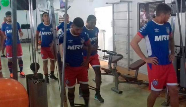 Parte do elenco fez um treino na academia nesta quarta-feira, 31 - Foto: Felipe Oliveira | EC Bahia