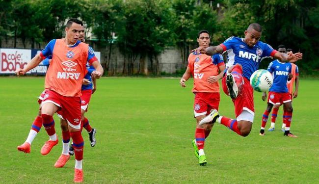 O Tricolor fez o último trabalho antes de viajar para encarar o Joinville - Foto: Felipe Oliveira   EC Bahia