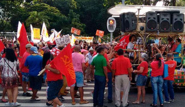 Manifestação contra Temer foi no Campo Grande, em Salvador - Foto: Marjorie Moura | Ag. A TARDE
