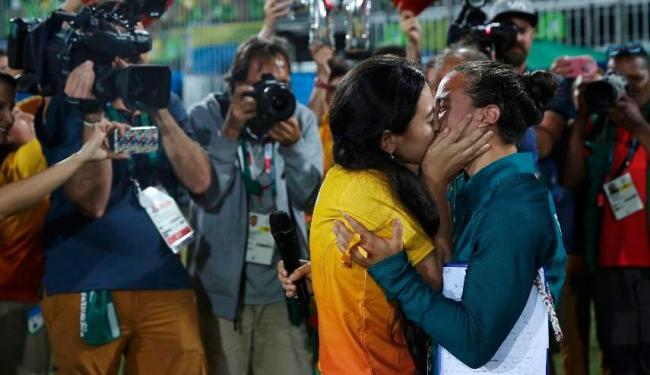 Izzy foi pedida em casamento por namorada na Rio 2016 - Foto: Alessandro Bianchi   Reuters