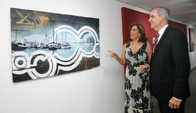 Jorge Calmon Filho e Athiná Arcadinos Leite foram os anfitriões da noite cultura - Foto: Margarida Neide l Ag. A TARDE