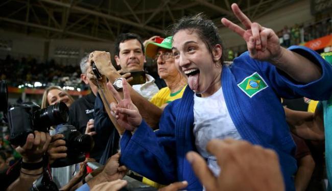 Mayra precisou de apenas um yuko para vencer a cubana - Foto: Toru Hanai | Reuters