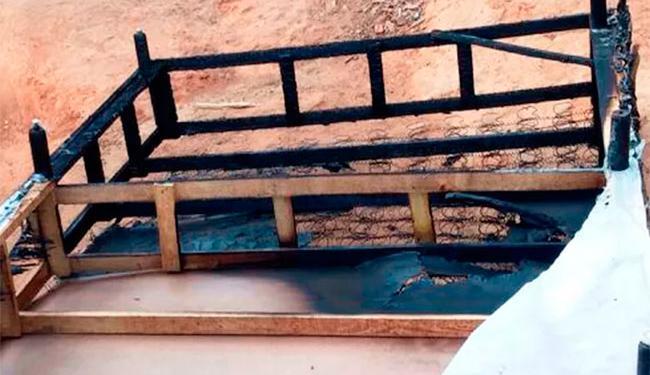 Adolescente colocou fogo no pai e na madrasta enquanto eles dormiam - Foto: Divulgação | Polícia Militar