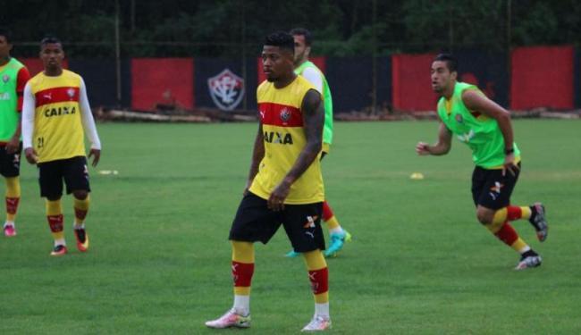 Marinho treinou normalmente mesmo tendo jogado os 90 minutos contra o Coritiba - Foto: Francisco Galvão | EC Vitória