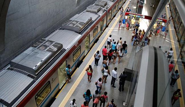 Cerca de 45 mil pessoas têm utilizado o metrô por dia - Foto: Joa Souza   Ag. A TARDE