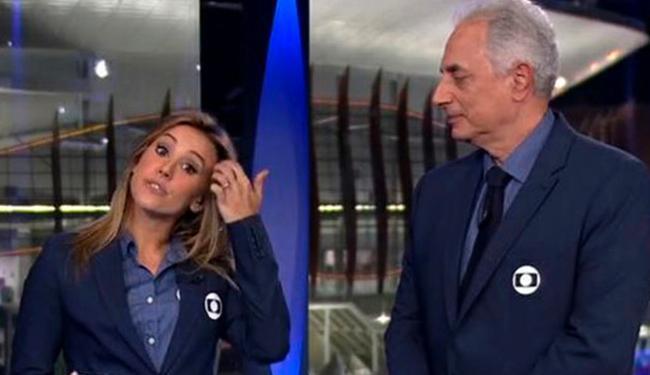 Climão entre jornalistas virou piada na internet - Foto: Reprodução | TV Globo