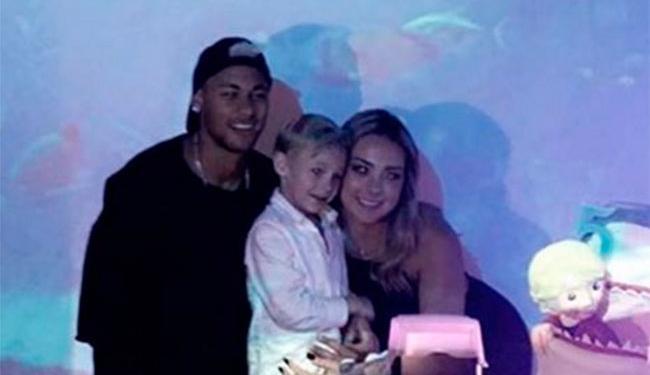 Neymar fez festa antecipada para o filho - Foto: Reprodução