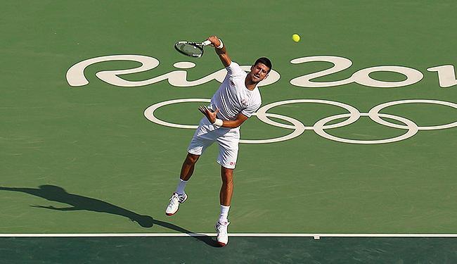 Tenista número 1 do mundo faz a revanche de Londres-2012 contra o argentino Juan Martin Del Potro - Foto: Kevin Lamarque l Reuters