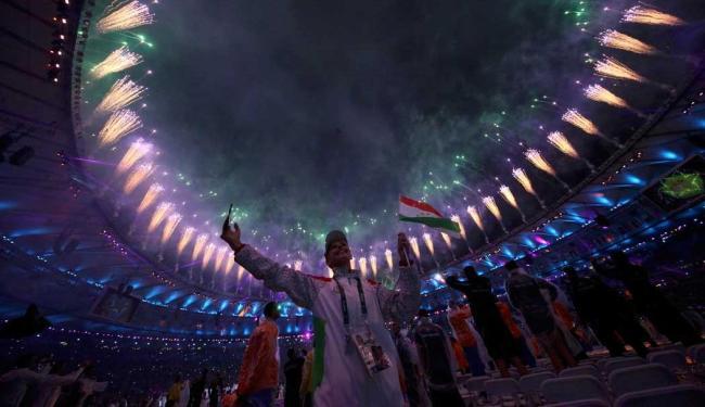 A festa de encerramento aconteceu em um cenário de cores e alegria - Foto: Stefan Wermuth   Reuters