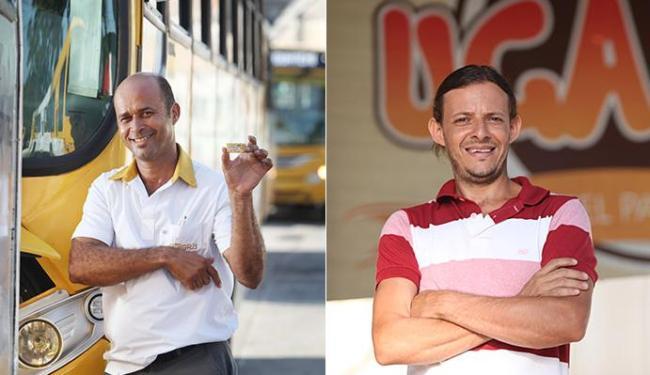 Paçoquita (E) e Uga Uga acreditam que seus apelidos podem atrair o eleitor - Foto: Raul Spinassé l Ag. A TARDE