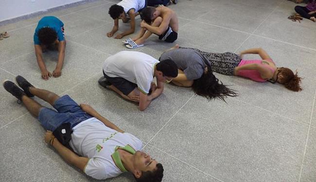 Alunos participam de projeto sobre artes cênicas, um dos nove em andamento - Foto: Henrique Soares (Ifba Jacobina) l Divulgação