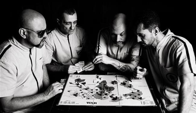 Morotó Slim, Julio Moreno, Rex e Fábio Rocha: um filme de espião na cabeça - Foto: Uanderson Brittes | Divulgação