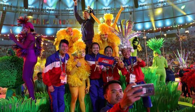 Atletas curtiram o encerramento dos Jogos Olímpicos do Rio de Janeiro - Foto: Reuters